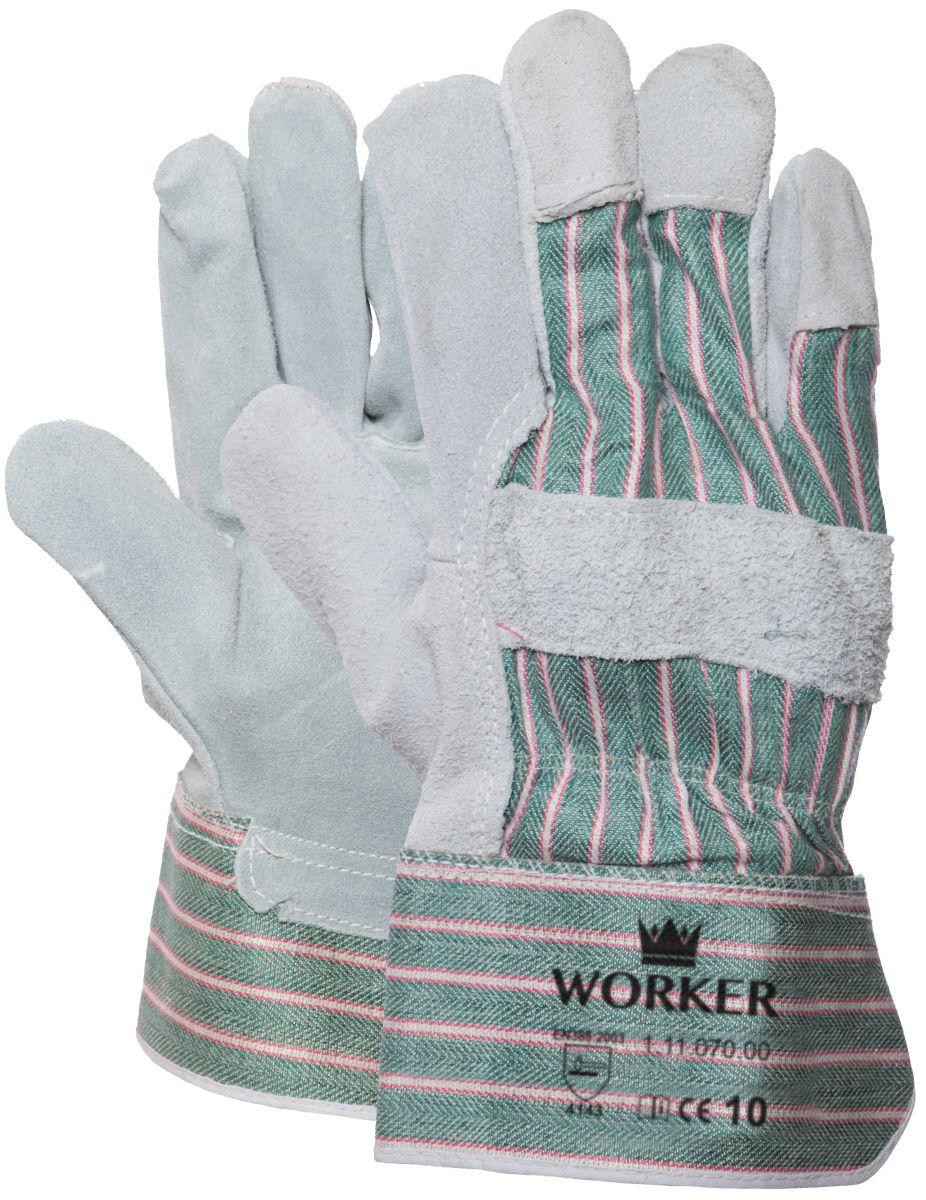 akwaliteit splitlederen handschoen 1 paar