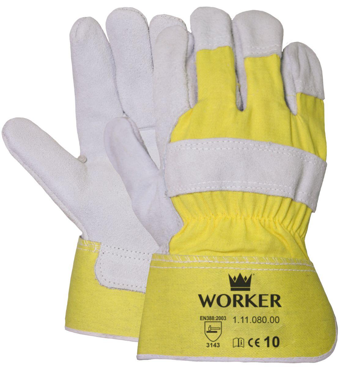 akwaliteit splitlederen handschoen zware kwaliteit 1 paar