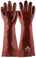 Handschoen PVC rood, 450 mm 1 paar