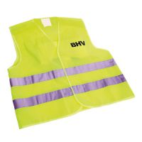Veiligheidsvest Geel opdruk BHV in tasje