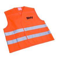Veiligheidsvest Oranje met opdruk BHV in tasje