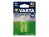 Varta Recharge Accu Power batterij 9V 200 mAh in blister