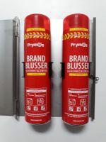 Design houder inclusief 2 Prymos spray brandblussers