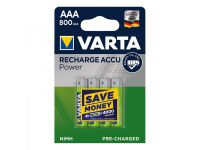 Varta Recharge Accu Power batterijen AAA 1000 mAh 4 stuks in blister
