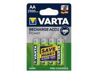 Varta Recharge Accu Power batterijen AA 2100 mAh 4 stuks in blister