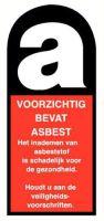 Voorzichtig, bevat asbest pp 35x70mm