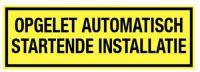 Automatisch startende installatie pp 300x100mm