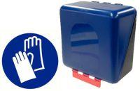 Secubox handschoenen mini blauw 23,6x12x12cm